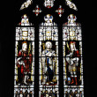 Holy Trinity Church, Stratford - upon-Avon stained glass windows - Stock Photo