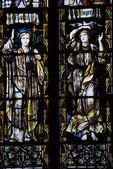 église de la sainte-trinité, stratford - vitraux sur-avon — Photo