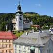 Banska Stiavnica Old castle and historic buildings and urban — Stock Photo