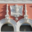 Windows decorated historic buildings Svitavy, Czech Republic — Stock Photo