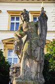 святого флориана, покровитель пожарных, свитави чешская республика — Стоковое фото