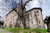 Courtyard of the Old castle in Banska Stiavnica, Slovakia Unesco — Stock Photo