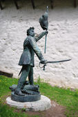 Statue Honved - Hungarian fighter, Banska Stiavnica - Old Castle — Stock Photo