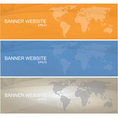 Modern colored banner with the theme of a world vector eps10 — Stock Vector