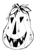 Calabaza de halloween con sonrisa malvada miedo — Vector de stock