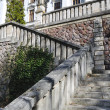Stock Photo: Historic stone stairs to middle school of chemical in BanskStiavnica