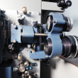 Stock Photo: 35mm theater movie projector