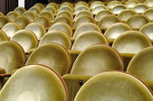 Gold upholstered seats in the cinema — Foto Stock