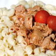 Soy meat with pasta — Stockfoto #9672299