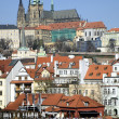 Prague Castle Hradcany in the Czech Republic , early spring - Stock Photo