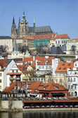 Prague Castle Hradcany in the Czech Republic , early spring — Stock Photo