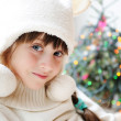 Cute little girl in anticipation of the holiday — Stock Photo