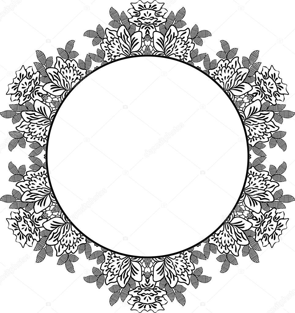 可爱的婚礼邀请卡与花边装饰框架