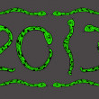 Stock Photo: Snake Happy new year 2013