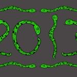Snake Happy new year 2013 — Stock Photo