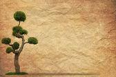 árvore com antigo fundo de papel da grunge vintage — Fotografia Stock