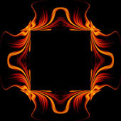 Abstract background frame with fire flow — Foto Stock
