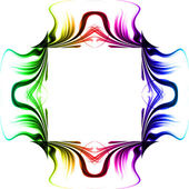 Abstract glow frame background with colorful — Stock Photo