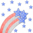 4th of July independence day on note paper — Stock Photo #10684452