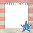 4th of July independence day on note paper — Stock Photo #10685093