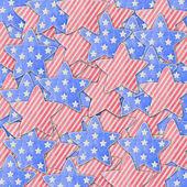 4th of July independence day on note paper — Stockfoto