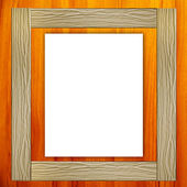 White paper with wood frame — Stock Photo