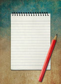 Blank notebook on sky watercolor abstract background ,Vintage st — Stock Photo