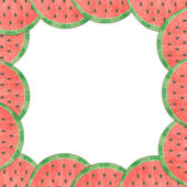 Melon lining to the frame isolated — Stock Photo