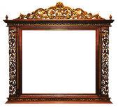 Wood frame vintage — Stock Photo