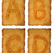 Old paper Alphabet — Stock Photo #8229118
