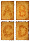 Old paper Alphabet — Stock Photo