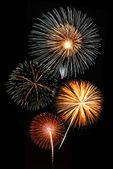 Fireworks against a black sky — Stock Photo