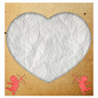 Heart in paper valentine background.Vintage style — Stockfoto