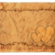 Vintage valentine background with old paper — Stock Photo