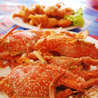 Seafood plate with crab — Stock Photo