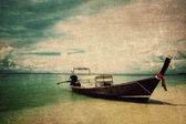 Boat on Thailand sea,Vintage style — Foto Stock