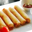 Stock Photo: Deep fried spring rolls