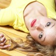 Laying on Her Back — Stock Photo