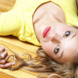 Laying on Her Back — Stock Photo #10073305