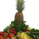 Fruit and Vegetable Arrangement — Stock Photo