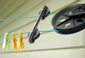Clothesline Pulley — Stock Photo