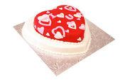 心形蛋糕 — 图库照片