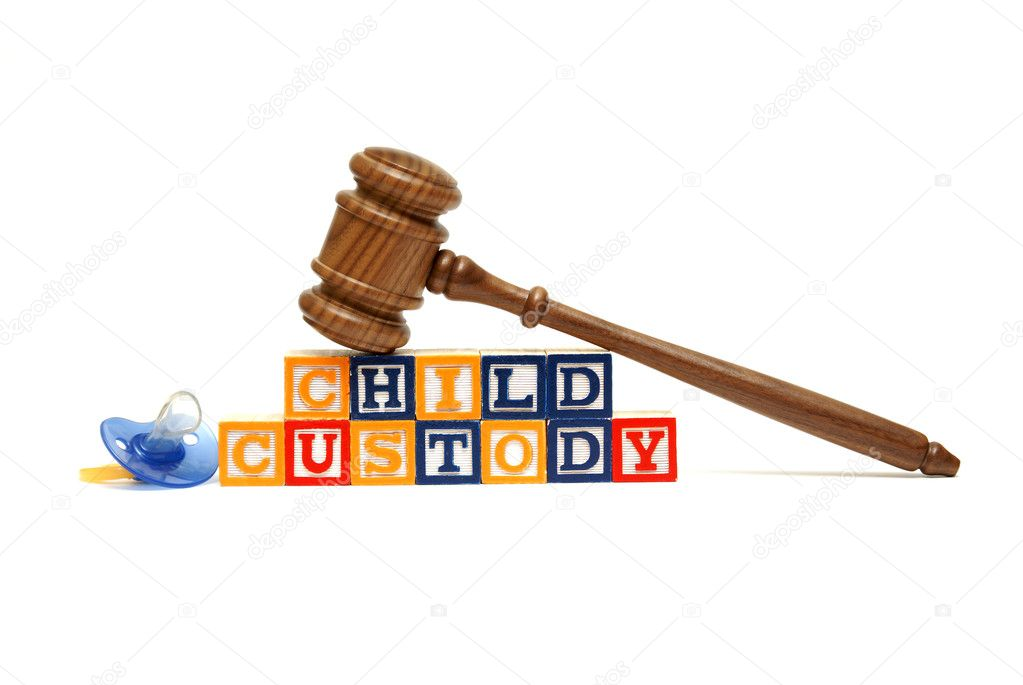 A group of isolated objects in regards to the concept of child custody. — Stock Photo #8605845