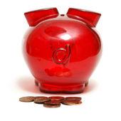 Piggy Bank Droppings — Stock Photo