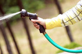 Using the Hose — Stock Photo