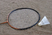Beach Badminton — Stock Photo
