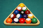 Racked Billiard Balls — Stock Photo