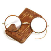 Antique Book and Spectacles — Stock Photo