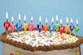 Gelukkige verjaardagscake — Stockfoto