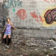 Stock Photo: Graffiti Girl